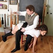 Libidinous miss gets savage spanks on her nates