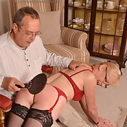 Wanton lass gets pitiless whips on the brush undeveloped