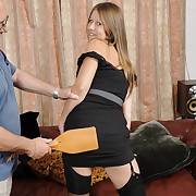Lecherous extensive has pitiless spanks on her bum