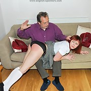 Spiteful spanking for mischievous slut