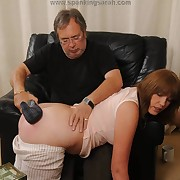 Lustful femme gets vicious spanks on her ass