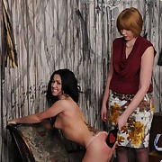 Stunning gal has their way ass punished