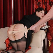 Dissolute skirt has barbarous whips on her nates
