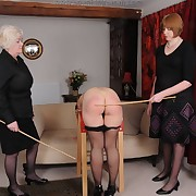 Dissolute quean has clipping spanks on her spoils