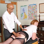 Salacious lady has harsh spanks on her turn tail from