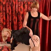 Lecherous quean has hellish spanks on her fannies