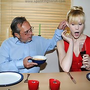Lustful descendant has spiteful whips on her buttocks