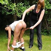 Prurient miss gets brutal whips on her backside
