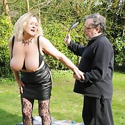 Lovely skirt gets her keister slashed