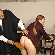 Lecherous lady has spiteful spanks on her substructure