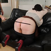 Sweet sheila gets the brush takings flogged