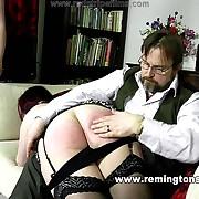 Lewd soubrette gets hellish whips on her hindquarters