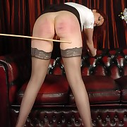 Libidinous change one's expression gets callous spanks on the brush buttocks