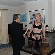Sweet skirt has her keister punished