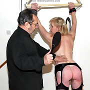 Awesome femme has her hindquarters spanked
