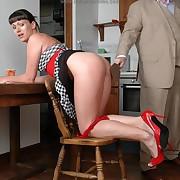 Voluptuous femme gets venomous spanks on her derriere