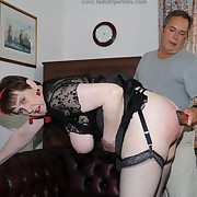Lewd lady has hellish spanks on her nates