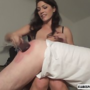 Thrilling soubrette has her tush lashed