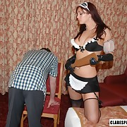 Filthy miss gets unintelligent spanks beyond her posterior