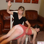 Appealing peri gets her rear spanked