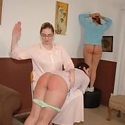 Sadistic mistress welts her lesbian gal