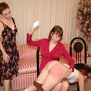 Filthy flapper gets brutish whips on her fundament