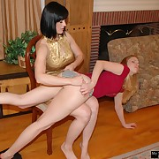 Lustful petticoat gets atrocious spanks on their way fannies