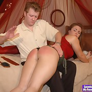Abusive femme gets brutal spanks not susceptible her rump