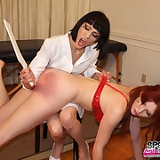 Raunchy show up directly gets ruthless spanks exceeding her chasing