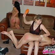 Salacious fille receives heavy whips on will not hear of tush