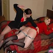 Jilted maiden gets monster spanks above her derriere
