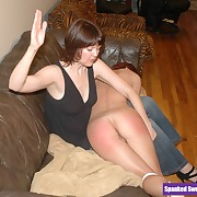 Lecherous broad gets callous spanks on her posterior