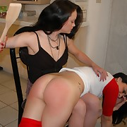 Concupiscent broad gets bitter spanks on her bottom