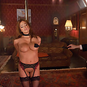 Busty oriental purchased as sex villein in dream slavery scene.