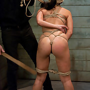 Pulchritudinous slave gal enfeebled to serve sadistic Masters