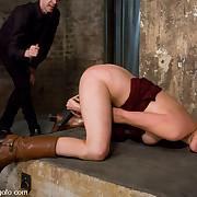 Slave drilled hard and punished