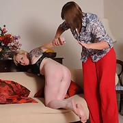 The crime woman was spanked otk