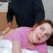 The pretty brunette slut was severely flogged ah home