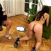 Caning of bad girl