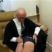 Blonde spanked in school