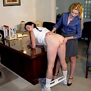 Bad secretary lasting spanked