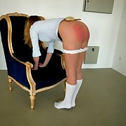 Blonde was spanked hard with hairbrush