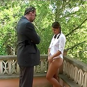 Outdoor ass caning