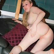 A sexy blonde was spanked