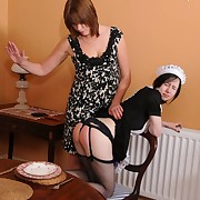 A maid was trashed hard