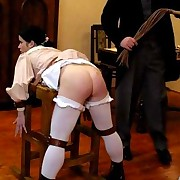 All schoolgirls in Victorian style school got asses whipped and caned