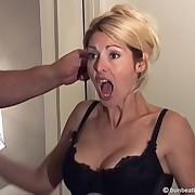 Husband spanked cheating wife hard