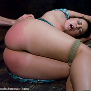 Slave bound, gagged and fucked