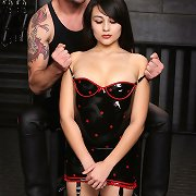 Luke continues to undress her out of her latex dress