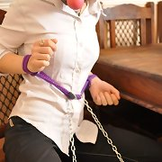Tied Virgin Bailey cannot escape her servitude masters